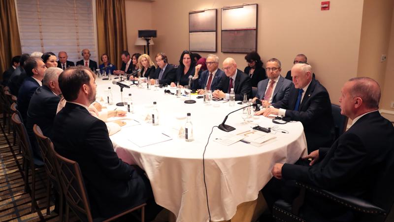 Erdoğan, ABD'de Yahudi kuruluş temsilcileriyle buluştu