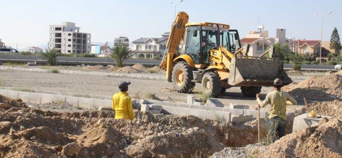 İskele'de Sahil Otopark Düzenleme Projesi devam ediyor