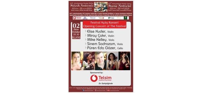 17. Uluslararası Kuzey Kıbrıs Müzik Festivali çarşamba başlıyor