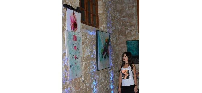 """Ekinci'nin """"İz"""" isimli resim sergisi ziyarete açıldı"""