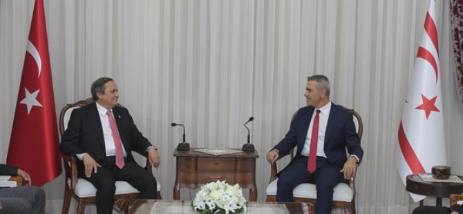 Meclis Başkanı Uluçay CHP Başkan Yardımcısı Torun'u KABUL etti
