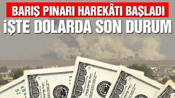 Suriye'nin kuzeyine harekât başladı! Dolar/TL ne kadar oldu? (09.10.2019)
