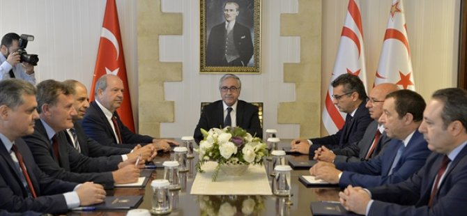 Cumhurbaşkanı Akıncı'nın siyasi parti başkanları ile bir araya geldiği toplantı sona erdi