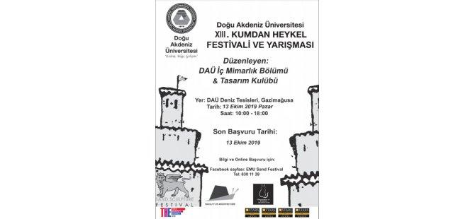 DAÜ XIII. Kumdan Heykel Festivali ve Yarışması  pazar günü yapılıyor