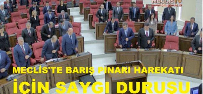 Meclis'te Barış Pınarı Harekatı'nda şehit düşenlere saygı duruşu
