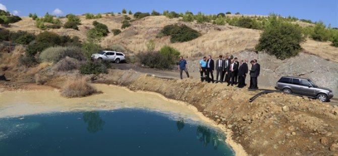 Tatar, Lefke'de CMC atıklarının yarattığı kirliliği yerinde izledi
