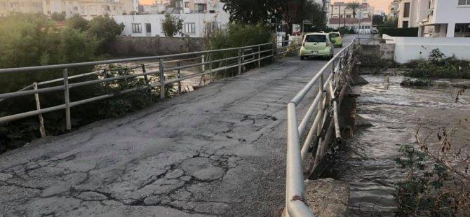 Lefkoşa Marmara'da Kızılbaş köprüsü tıkandı...