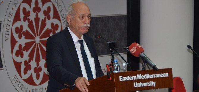 Türk Tarih Kurumu Başkanı Prof. Dr.  Refik Turan DAÜ'de konferans verdi