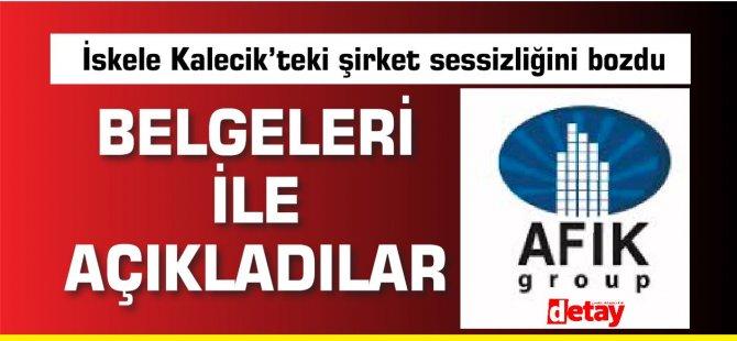 Afik Group'tan kamuoyununa açıklama
