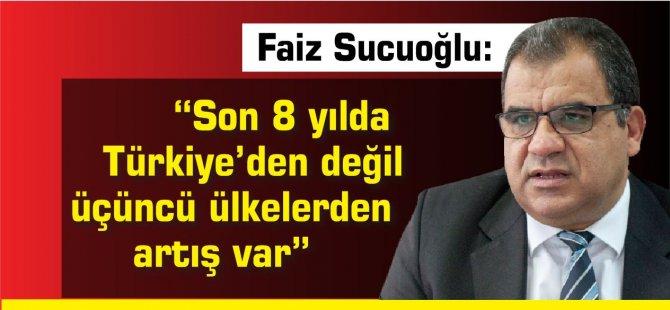 """""""Son 8 yılda Türkiye'den değil üçüncü ülkelerden artış var"""""""