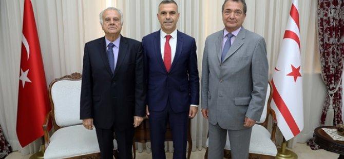 Uluçay, ESKİ TC Lefkoşa Büyükelçileri Güven ve Türkmen'i kabul etti