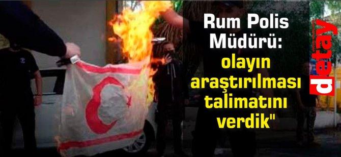 """Rum Polis Müdürü Mihalidis:""""KKTC bayrağının yakılması olayının araştırılması talimatını verdik"""""""