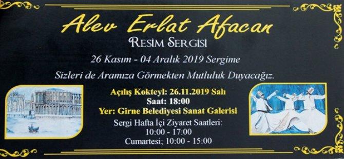 Alev Erlat Akacan'nın resim sergisi yarın açılıyor