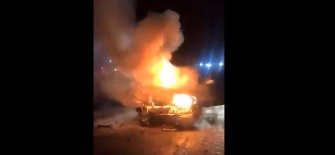 Gazimağusa'da Araç Yangını