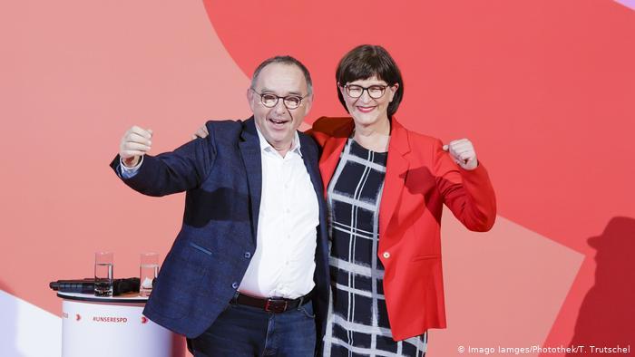 SPD yeni eş genel başkanlarını seçti
