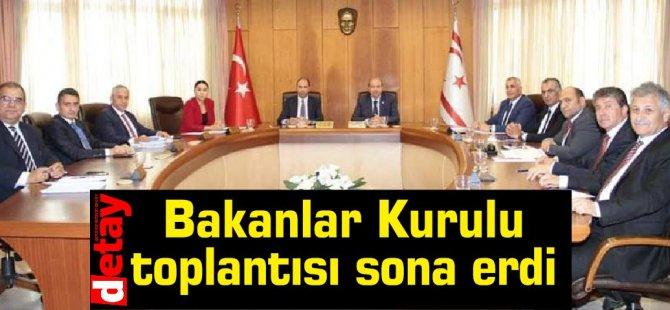 Bakanlar Kurulu toplantısı sona erdi… Açıklama yapılmadı...