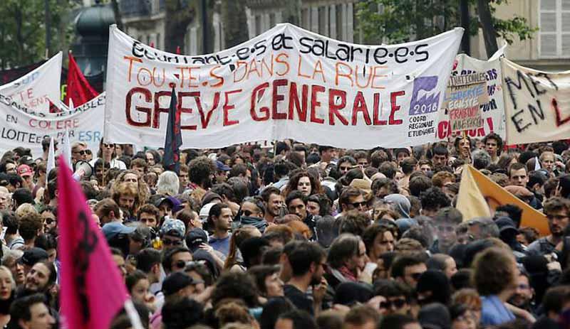 Fransa'da grev 3. gününde: 25 yıldır böylesi görülmedi