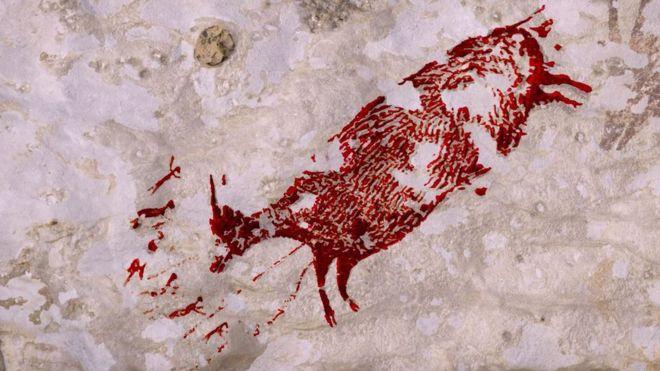 Mağarada 44 bin yıllık hayvan resmi bulundu