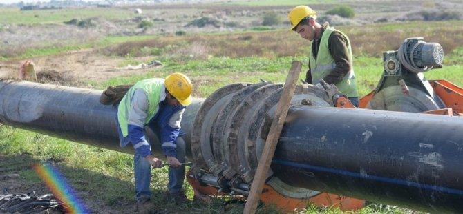 Yeni kanalizasyon ana taşıyıcı hattı için çalışmaları devam ediyor