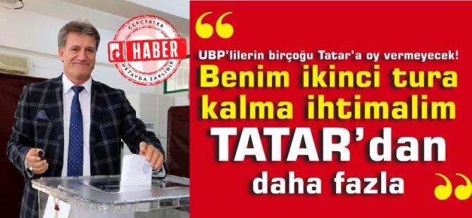 """Arıklı: """"Benim 2. tura kalma ihtimalim Tatar'dan daha fazla"""""""