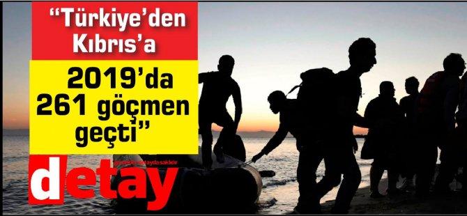 """""""Türkiye'den 2019'da Kıbrıs'a 261 göçmen geçti"""""""