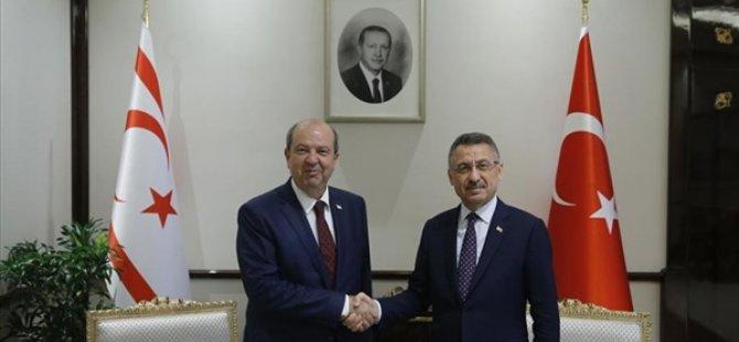 Tatar, Türkiye  Cumhurbaşkanı Yardımcısı Oktay ile görüştü