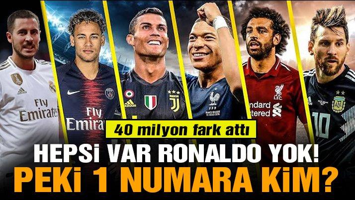 En değerli futbolcu 225 milyon avroyla PSG'nin yıldızı Mbappe!