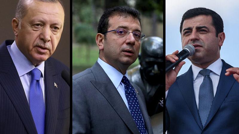 Erdoğan'ın masasındaki 'en beğenilen siyasetçi' anketinde İmamoğlu ve Demirtaş var