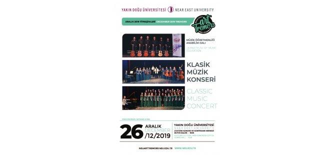 """Yakın Doğu Üniversitesi Sanat Titreşimleri Aralık ayı etkinliği: """"Müzik Öğretmenliği Anabilim Dalı Klasik Müzik Konseri"""""""