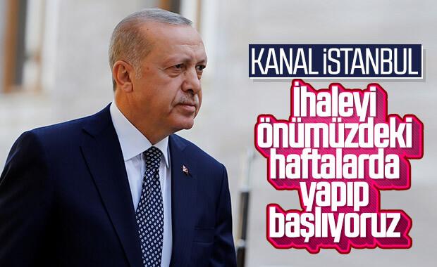 Cumhurbaşkanı Erdoğan: Kanal İstanbul'un ihalesi önümüzdeki haftalarda