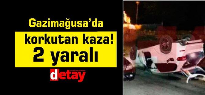 Gazimağusa'da korkutan kaza! 2 yaralı