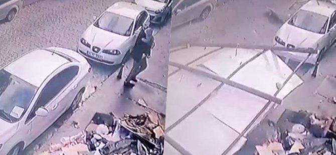 İstanbul'da lodos çatıyı uçurdu, baba ve çocuğu ölümden döndü