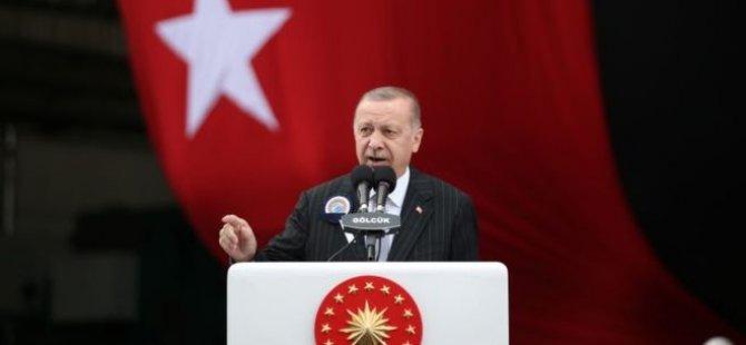 Erdoğan: KKTC ve Libya ile başlattığımız süreçlerden vazgeçersek bize olta atacak sahil bile bırakmayacaklar