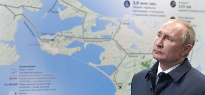 Putin, Rusya ile ilhak ettiği Kırım arasındaki Avrupa'nın en uzun köprüsünü açtı