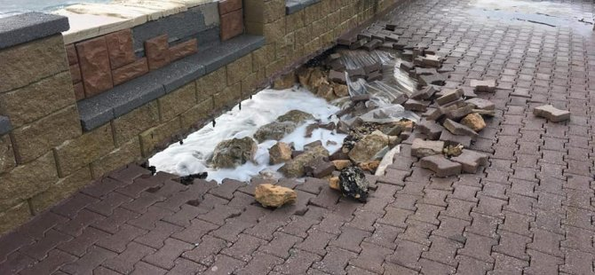 İskele Belediyesi  zarar gören Boğaz Park alanında çalışma yapıldığını duyurdu