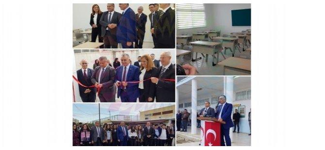 Gazimağusa Türk Maarif Koleji'ne yaptırılan iki ek derslik düzenlenen törenle açıldı
