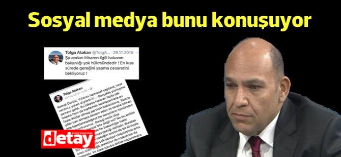 Sosyal medya Tolga Atakan'ın istifa çağrısını konuşuyor