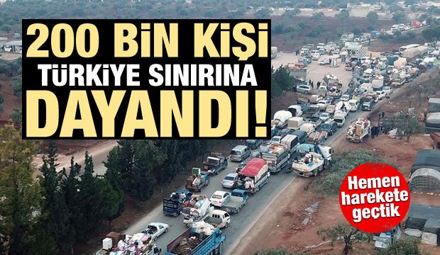 Kızılay Başkanı açıkladı: 200 bin insan Türkiye sınırında!