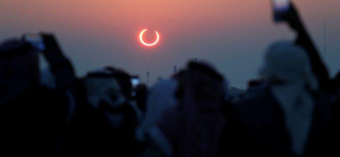Halkalı Güneş Tutulması gerçekleşti: Binlerce insan 'ateş çemberini' izledi