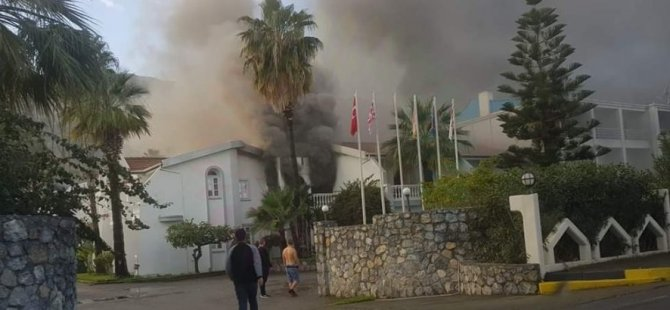 Lapta LA Hotel'de yangın!