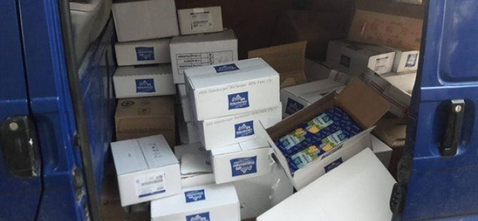 Beyarmudu'da bir araç içinde çok miktarda kaçak gıda ele geçirildi, bir kişi tutuklandı