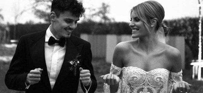Enes Ünal ile Lisa Smellers evlendi