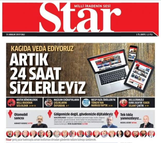 Star ve Güneş gazeteleri son baskılarını yaptı