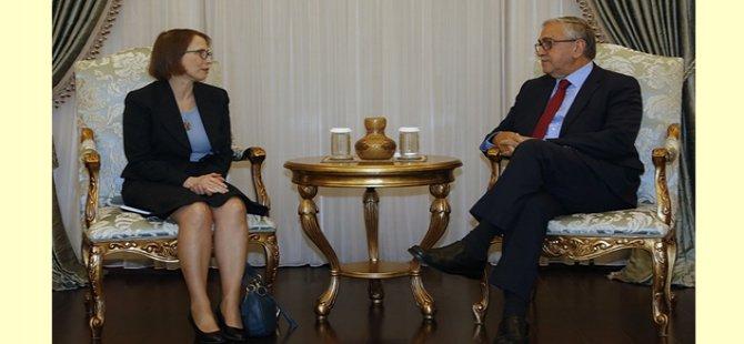 Cumhurbaşkanı Akıncı, ABD'nin Lefkoşa Büyükelçisi Judıth Gaıl Garber'i kabul etti