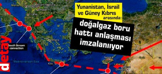 Yunanistan, İsrail ve Güney Kıbrıs  arasında doğalgaz boru hattı anlaşması imzalanııyor