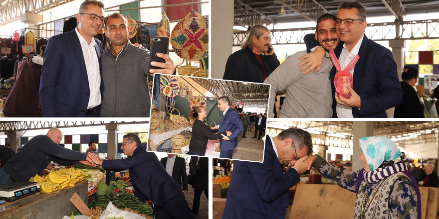 Cumhurbaşkanı adayı Erhürman'a Mağusa'da yoğun ilgi