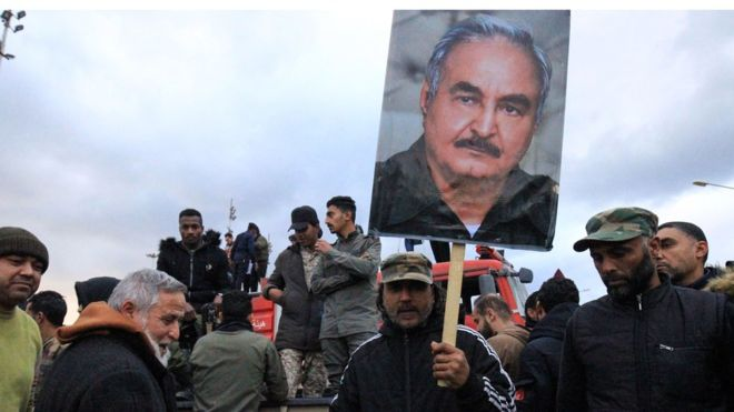 """Libya'da General Hafter Türkiye'ye karşı """"cihat"""" ve silahlanma çağrısı yaptı"""