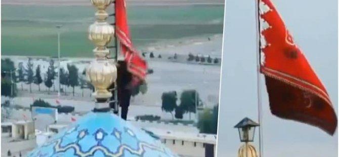 Şiiliğin merkezinde  'intikam bayrağı' çekildi