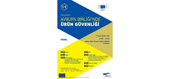 """Yarın """"Avrupa Birliği'nde Ürün Güvenliği"""" konulu panel gerçekleştirilecek"""
