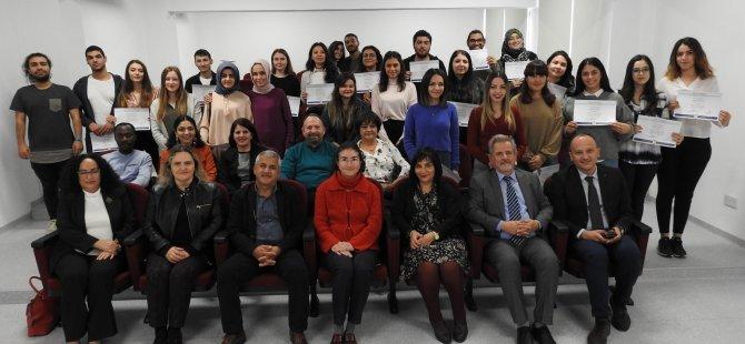 DAÜ Yabancı Diller Eğitimi Bölümü Şeref ve Yüksek Şeref Sertifika Töreni yapıldı
